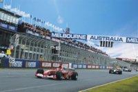 Formula 1 racing in Melbourne