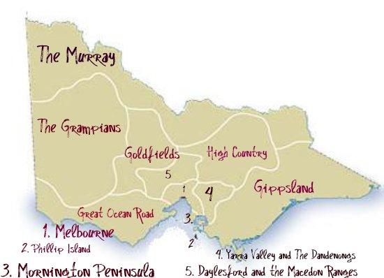 Victoria's Regions Map
